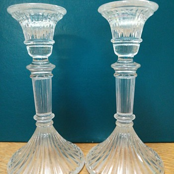 Paid of Glass candlesticks - Glassware