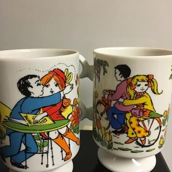 Romance 6779 mugs. Made in Japan. Nasco maybe?  Happy Friday all!!