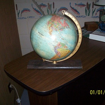 Vintage Desk Globe from the 1960's.