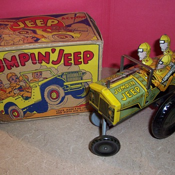 Marx Tin Jumpin' Jeep Toy - 1940's - Toys