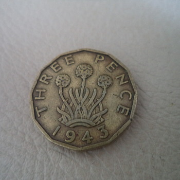 1943 Brass Three Penny
