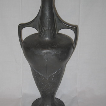 Orivit Pewter Art Nouveau Vase, Germany, c. 1905