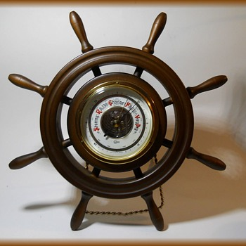 West Germany Barometer - Ship's Wheel ( 1970's )
