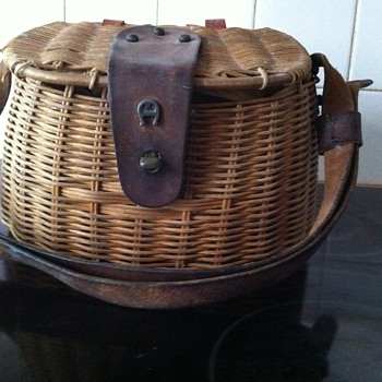 1970's Aigner Fish Tackle Basket Purse - Fishing