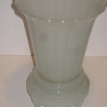 Vase and Stand Glass - Art Glass