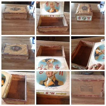 George Washington Cigar Box - Tobacciana