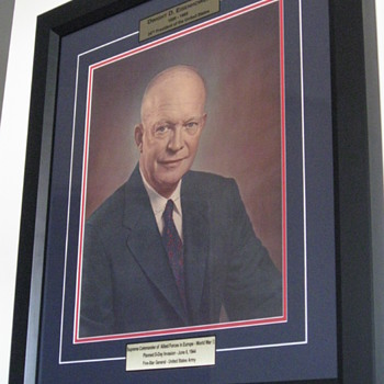 Dwight D. Eisenhower . . . Signed Portrait