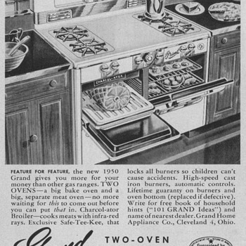 1950 Grand Oven/Range Advertisement - Advertising