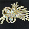 Vintage crystal flower brooch
