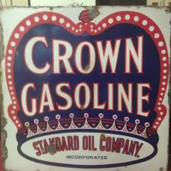 Crown Gasoline Sign