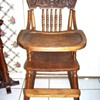 Antique 1920s Oak Highchair All Original