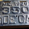 maine sidecar plate 1929