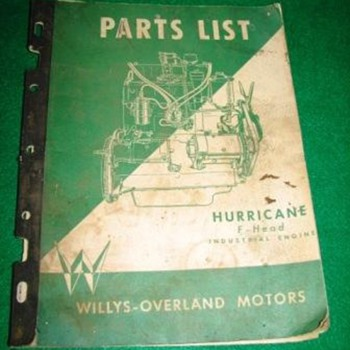 willys parts manual - Books