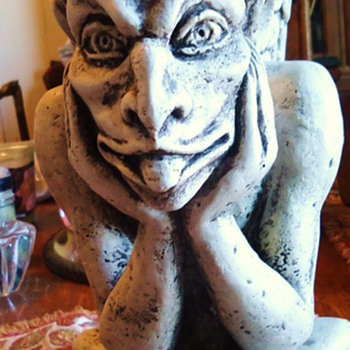 """Spitting Gargoyle"" of Notre Dame  Gargoyles keep evil away! - Art Pottery"