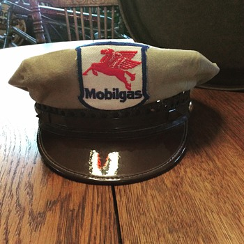 1930's- 1940's Mobilgas gas station attendant hat - Petroliana