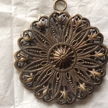 Antique pendant and necklace  - Fine Jewelry