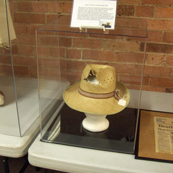 John Lennon&#039;s owned and worn hat...1980 - Music