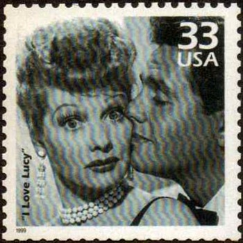 "1999 - ""I Love Lucy Show"" Postage Stamp (US) - Stamps"
