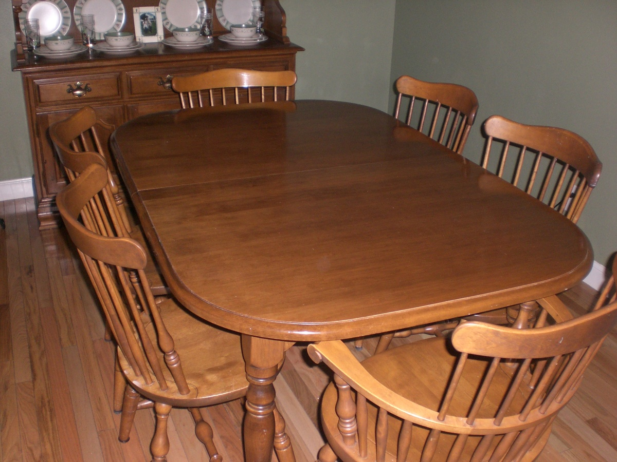 Ethan allen dining set collectors weekly - Ethan allen kitchen tables ...