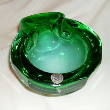 Murano Art Glass Bowl - With Label