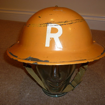 British WW11 Rescue/Gas steel helmet. Sergeant rank - Military and Wartime