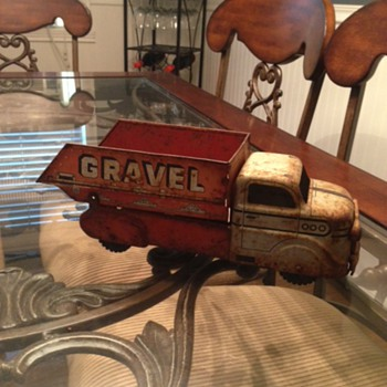 Marx Orange Gravel & Sand Truck  - Model Cars