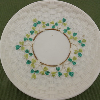 Belleek Shamrock Saucer - 2nd Black mark - Pottery