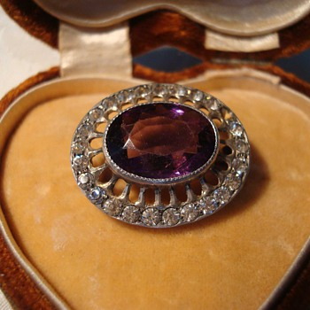 Edwardian Amethyst Brooch