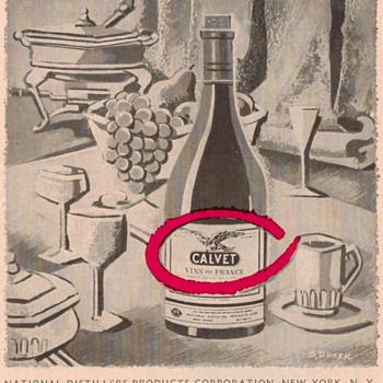 1954 Calvet Wine Advertisement - Advertising