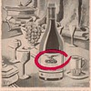 1954 Calvet Wine Advertisement