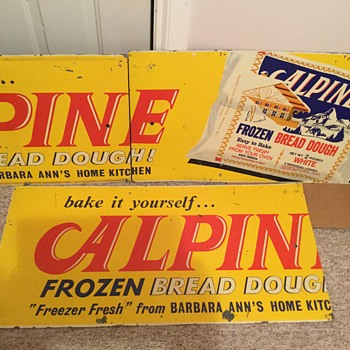 Rare? Alpine Frozen Dough Sign