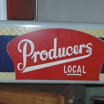 Found this neat Producers light sign  - Signs