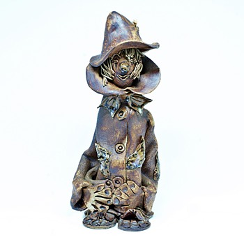 Studio Pottery Folk Art Clown/Scarecrow.