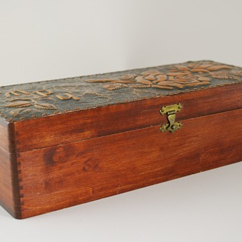 Wood Jewelry Box with Metal Overlay?