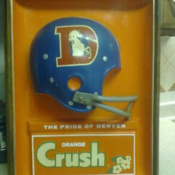 "DENVER BRONCO ""ORANGE CRUSH"" SIGN"