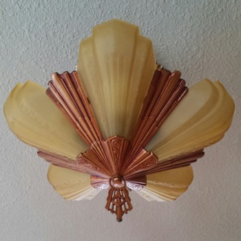 1930s Art Deco J.C. Virden Co. Slipper shade light - Art Deco