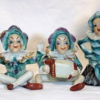 Five Occupied Japan Ceramic Musicians 1946-1950  - Figurines
