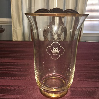Swedish Royal commemorative wedding vase - Glassware