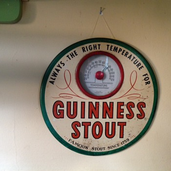 Old American Guinness Thermometer - Breweriana
