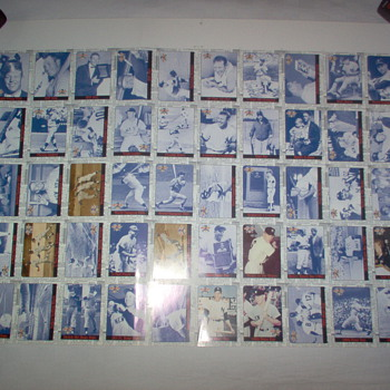 mickey mantle uncut sheet - Baseball