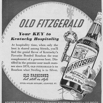 1950 Old Fitzgerald Advertisement - Advertising
