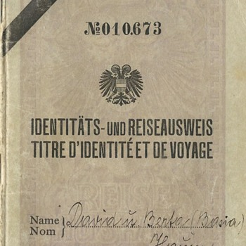 1936 Austrian Stateless passport (Travel ID) - Paper