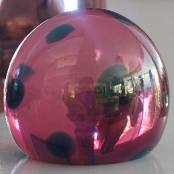 Tiffany Oil Spot Favrile American Glass Paperweight
