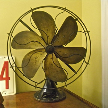 "1928 Emerson 6 Blade 16"" Fan, Type 73668, Restore?"