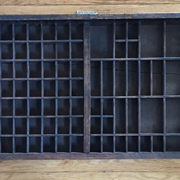Caslon London type set tray.