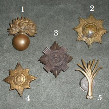 British Foot Guards Cap Stars/Badges - Military and Wartime