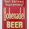Hohenadel Beer Metal Sign Philadelphia PA 