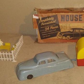 Kahn toy company house trailer and car !