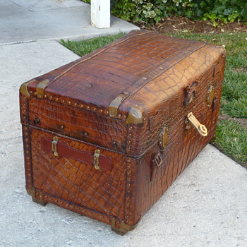 Alligator Covered Portfolio Trunk #2 - Furniture