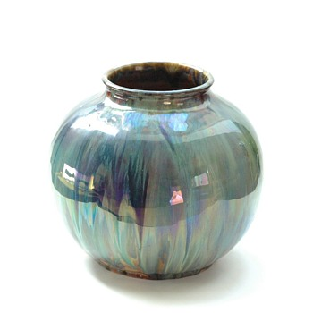 art nouveau elchinger vase with stunning glaze